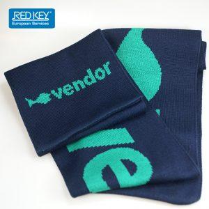 sjaal met ingebreid logo vendor
