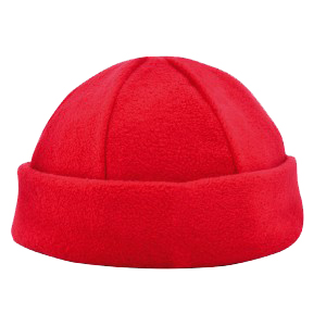6 panel fleece muts rood Image