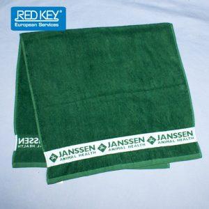 handdoek met ingeweven rand